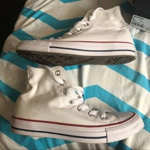 Shoes - White high tops converses